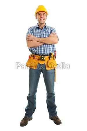 arbeiter tragen helm