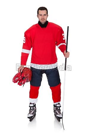 profi hockeyspieler nach dem spiel