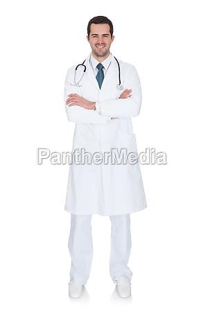 portrait of friendly male doctor