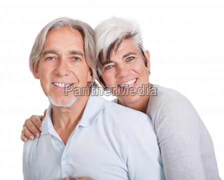 happy loving senior couple