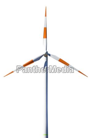 einzelnes windrad freigestellt