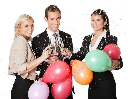business team selebrating erfolg