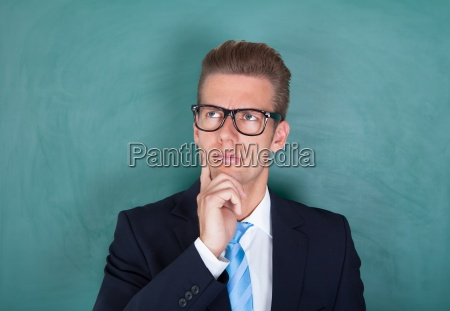 portrait of thoughtful male professor