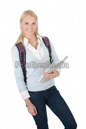 portrait of beautiful student girl