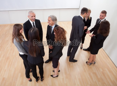 business people chatting