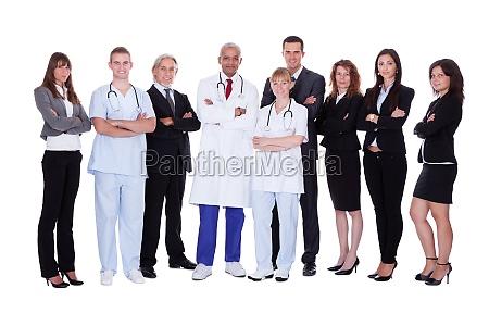 krankenhauspersonal gruppe