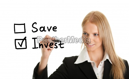 invest instead of saving concept