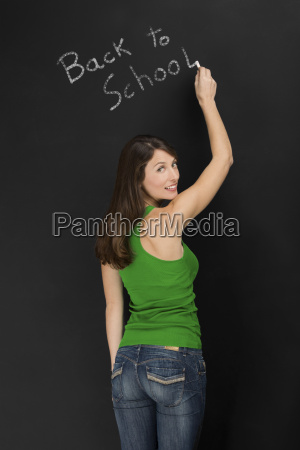 beautiful female student thinking