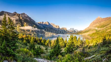 panorama landschaft blick auf glacier np