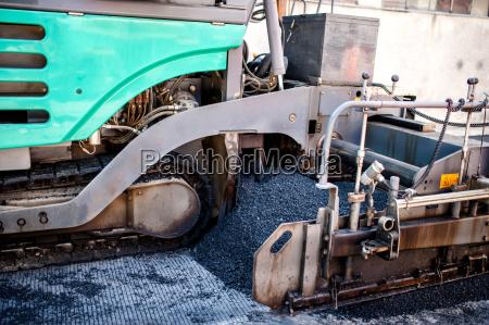 industrie maschinerie asphalt maschinenpark baustelle