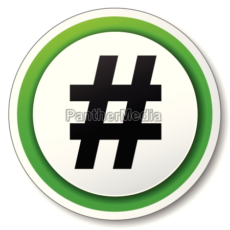 vector hashtag icon