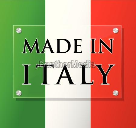 vector made in italy sign