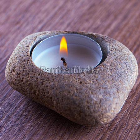 stone and candle