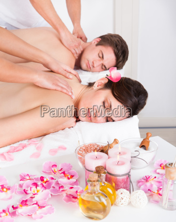 paare in spa salon