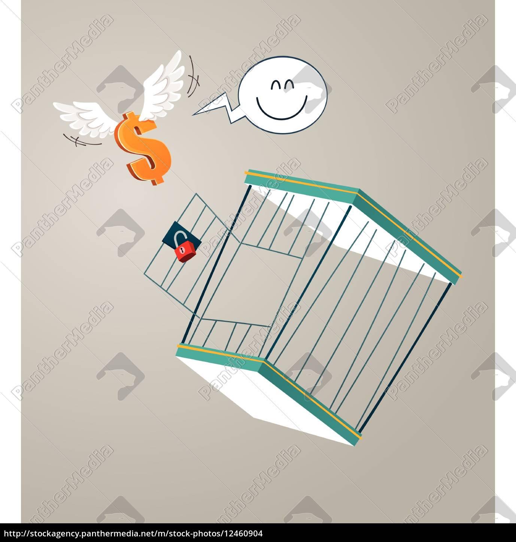 flucht, aus, einem, käfig - 12460904