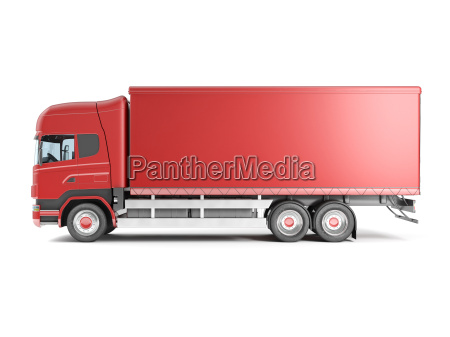 camion europeo rosso