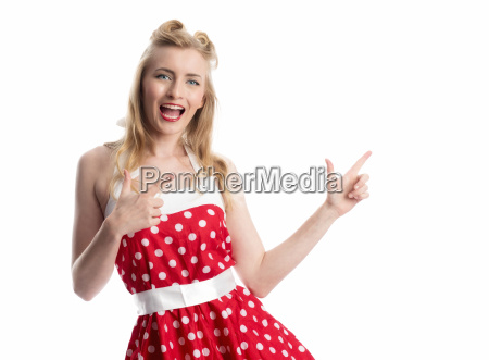 confident pinup girl