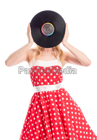 woman music poster record vinyl publicity