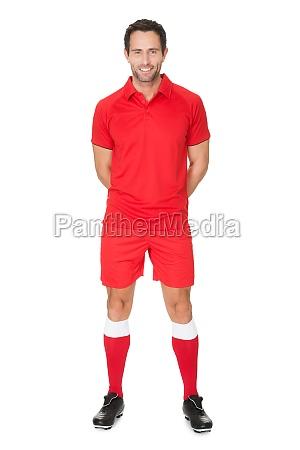 portraet des fussballspielers