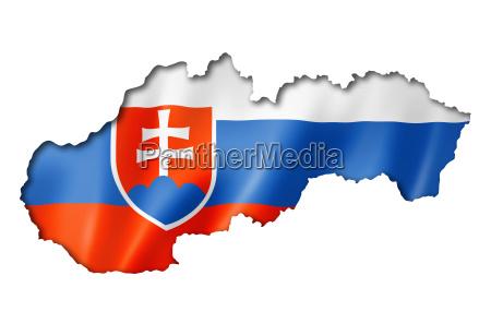 freisteller slowakei fahne abgeschieden flagge isolierte