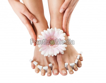 pedicure treatment for womans feet