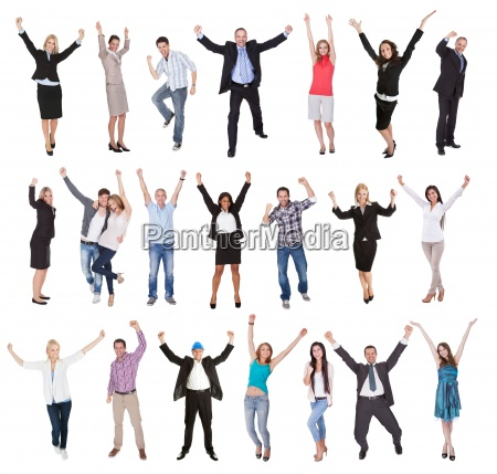 photos of excited people