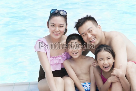vacations fun four people family childhood