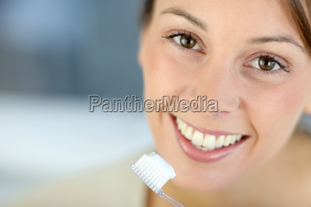 nahaufnahme, auf, dem, toothy, lächeln, der - 12528730