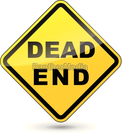 vector dead end sign