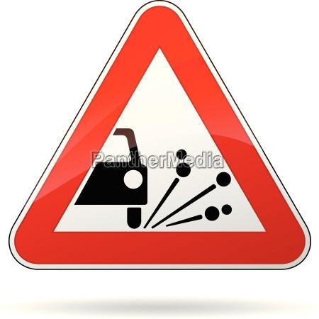 vector gravel sign