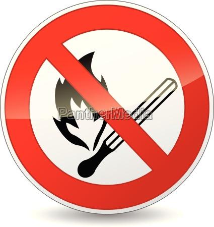 vector no flame sign