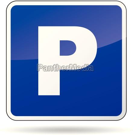 vektor parkplatz zeichen