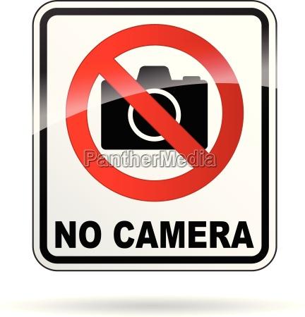 vector no camera sign