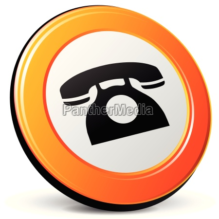vector wired phone icon