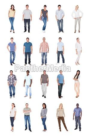 collage von multiethnischen leuten in den