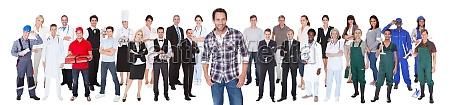 diverse, menschen, mit, unterschiedlichen, berufe - 12541712