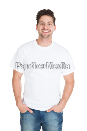 excited young man with clenching fists