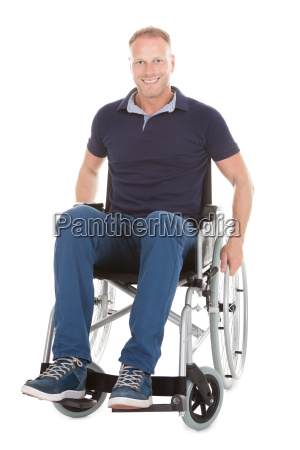 portraet von behinderten menschen auf dem