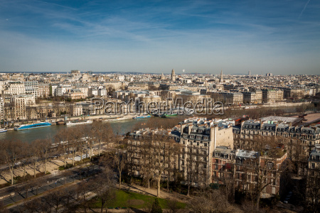 skyline of paris with cityscape at