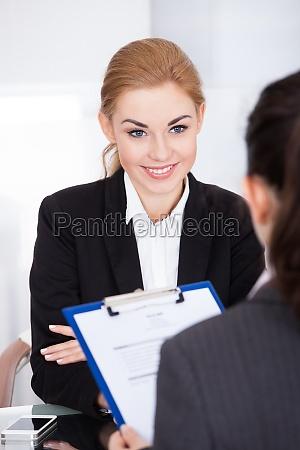 geschaefts interview leiten