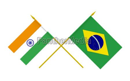 flaggen brasilien und indien