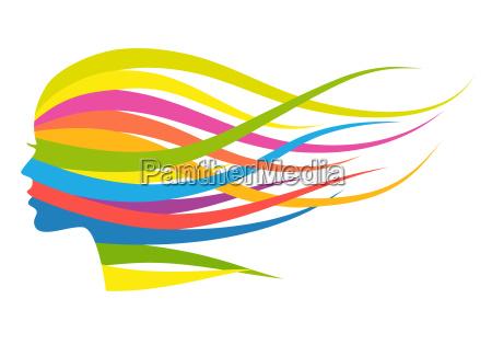 multicolor haarfrau