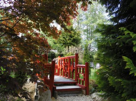 garden trail to the red bridge