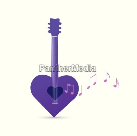 guitar heart design