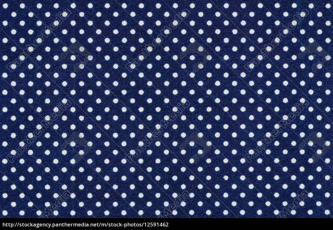 Blauer Stoff Mit Weissen Punkten