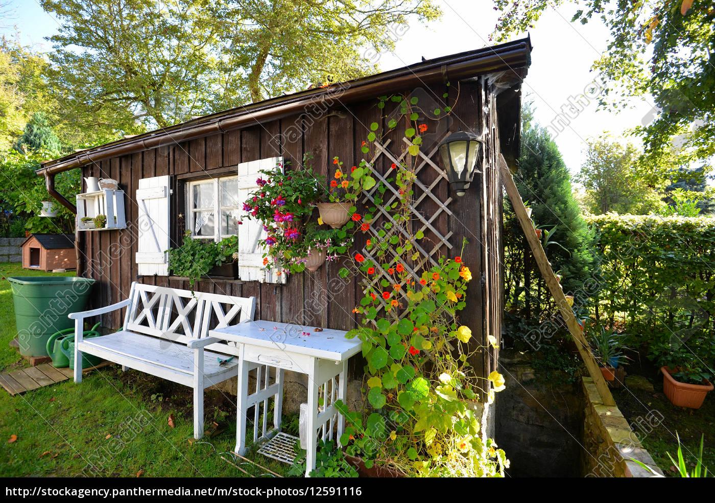 Garten Hütte Herbst Lizenzfreies Foto 12591116 Bildagentur