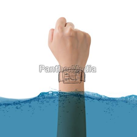 smart watch konzept der wasserdicht