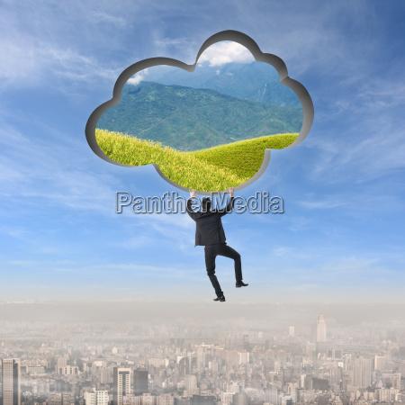 steigen sie in die cloud