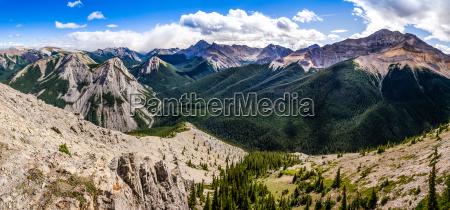 panorama blick auf den felsigen bergen