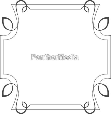 vector quadratischen rahmen element fuer design